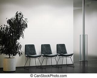 area., hivatal, várakozás, belépés, vakolás, fényes, 3