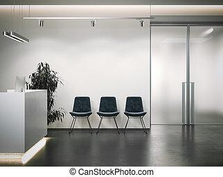 area., hivatal, várakozás, vakolás, fényes, fogadás, 3