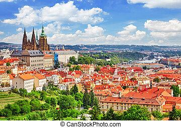 Area Lesser Town of Prague, near the church Saint Vitus,...