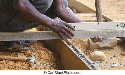 area., local, mains, grand plan, bâtiment, floor., chèques, construction, ralenti, avenir, project., précision, pendant, niveaux, unrecognizable, concept, constructeur, mâle, bois, travaux, indien