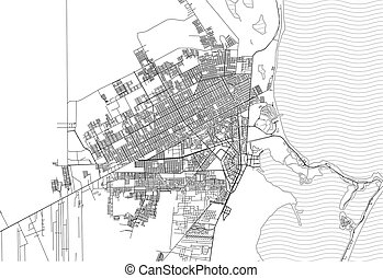 Area map of Cancun, Mexico
