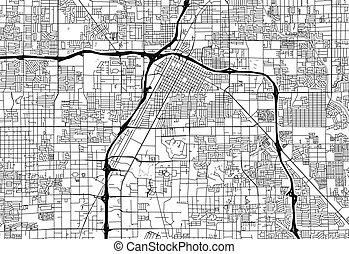 Area map of Las Vegas, United States