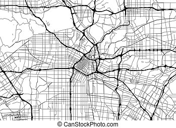 Area map of Los Angeles, United States