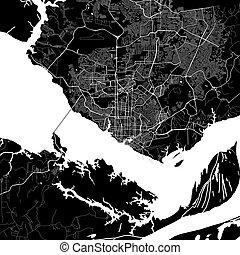 Area map of Manaus, Brazil