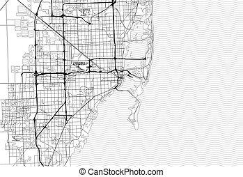 Area map of Miami, United States