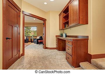 area., stanza, ufficio, bello, unfurnished, costruito