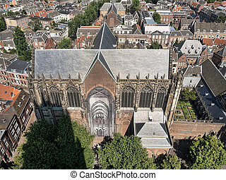 Areal of the city of Utrecht in the Netherlands - Areal view...