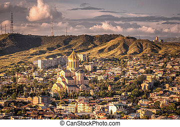 Areal view of TBILISI