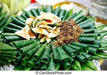 Areca nut, betel. - Areca nut, betel nut chewed with the ...