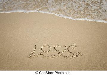 areia, amor, fundo, textura
