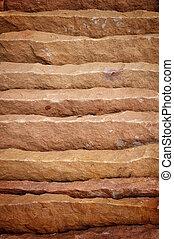 areia, folha, pedra