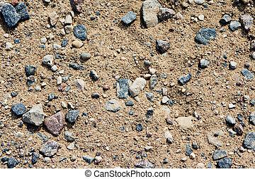 areia, pedra, fundo