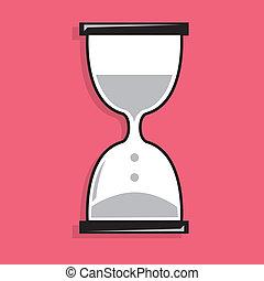 areia, relógio, ícone