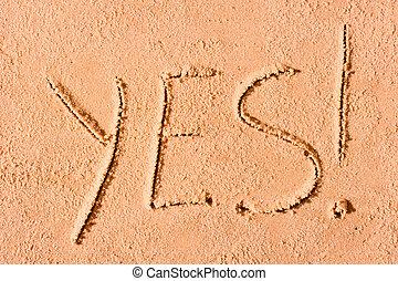 Areia, sim, escrito, mar, molhados