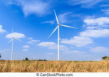 areje turbina, energia limpa, conceito