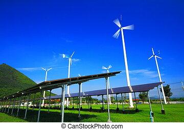 areje turbina, energia, solar
