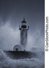 areless, άνθρωποι , καταιγίδα , μέσο , θάλασσα