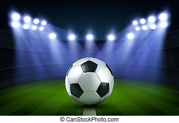 arena, bola, futebol, estádio, futebol, bandeira