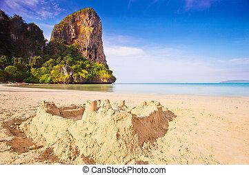 arena, castillo