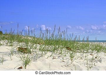 arena, cielo, y