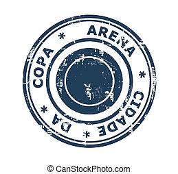 arena, copa, estampilla, cidade, da, estadio