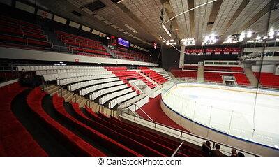 arena, czyści, lód, lekkoatletyka, maszyna, opróżniać, hokej...