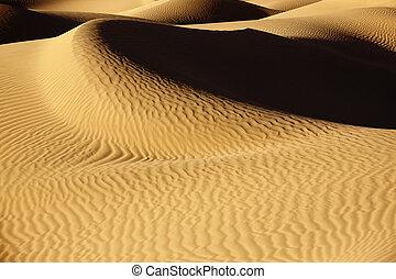 arena, desierto de sahara, dunes.