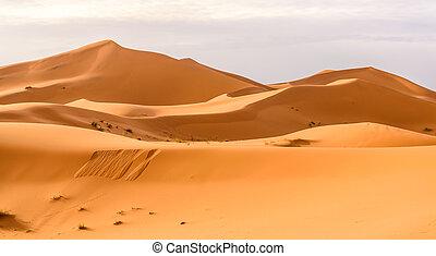 arena, desierto, marroquí, ergio, dunas, chebbi