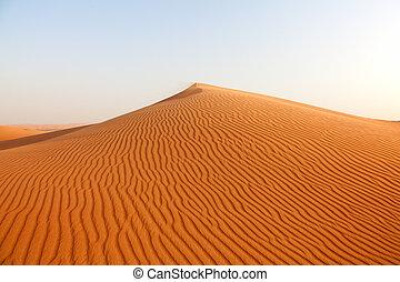 arena, desierto, rojo