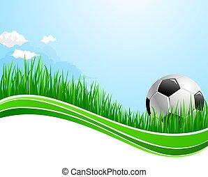 arena, desporto, futebol, vetorial, fundo, futebol