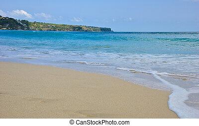 arena fina, playa, bali