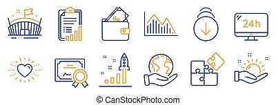 arena, ikony, portfel, komplet, taki, lokata, graph., ...