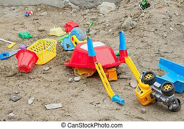 arena juguetea