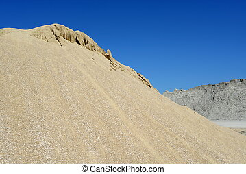 arena, montón