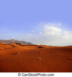 arena, paisaje, -, desierto, duna