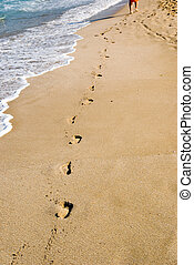 arena, pasos