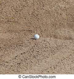 arena, pelota, golf, trampa