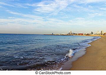 arena, playa, mar