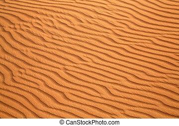 arena roja, desierto