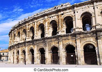arena, romano, nimes, francia