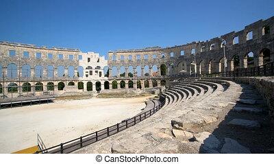 arena, rzymski, amfiteatr, pula, pula, chorwacja, -