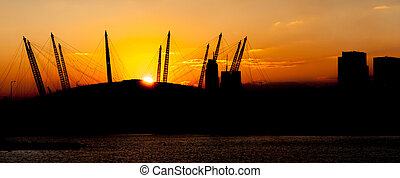 Arena Sunset - Sunset over the O2 Arena in London