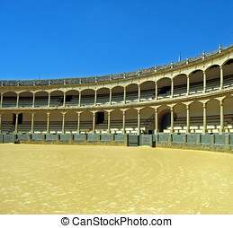 arena where bullfighting takes place in spain