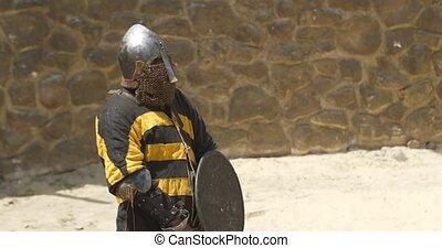 arena, wojownik, zbroja, ręka, reputacja, miecz, środek