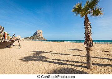 arenal,  calpe, méditerranéen,  BOL,  Alicante, espagne, plage, mer