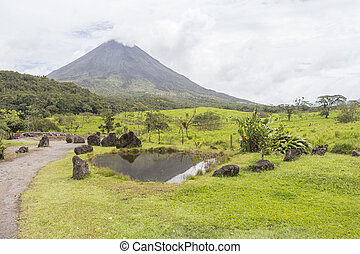 Arenal volcano view in Costa Rica