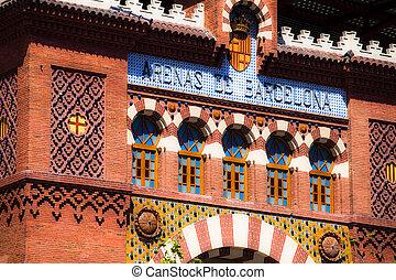Arenas de Barcelona Bull Fighting Spain