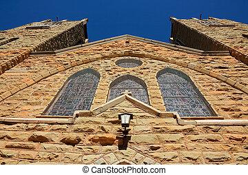 arenisca, iglesia, edificio