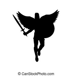 Ares god war wings silhouette ancient mythology fantasy