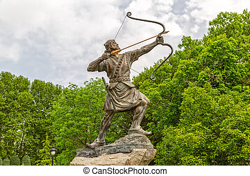 Aresh the Archer Statue - Statue of Aresh Kamangir the...